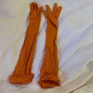 H&M orange elbow gloves